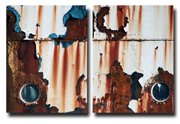 The Fun Ship 5 (Diptych) - 1/7 - Two 16x12in Aluminium Panels - Image 0