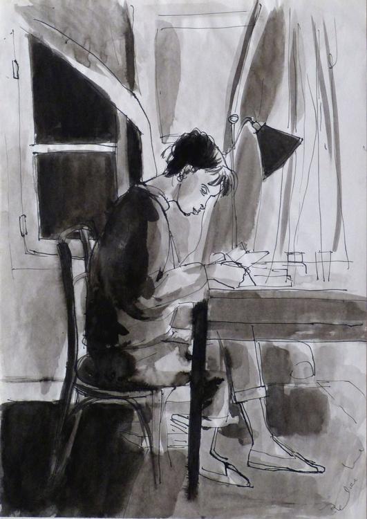 Student 11, 21x29 cm - Image 0