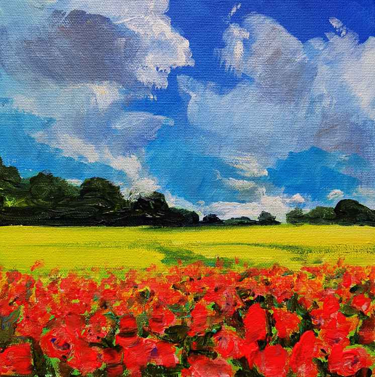Poppies And Rape Fields No.2