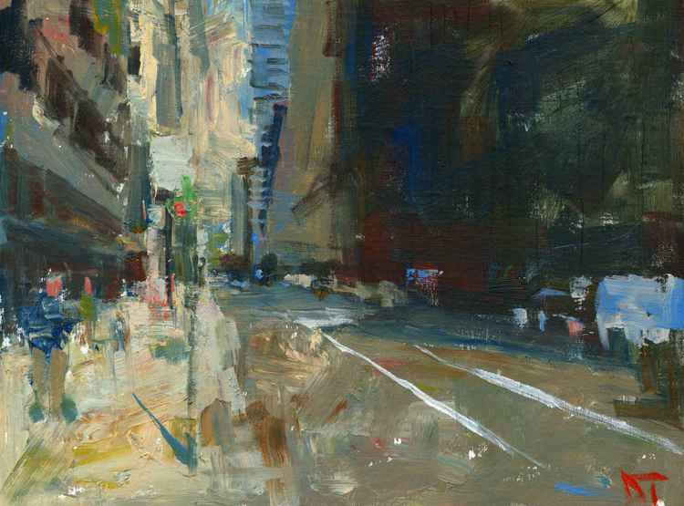 Empty Street Chicago -