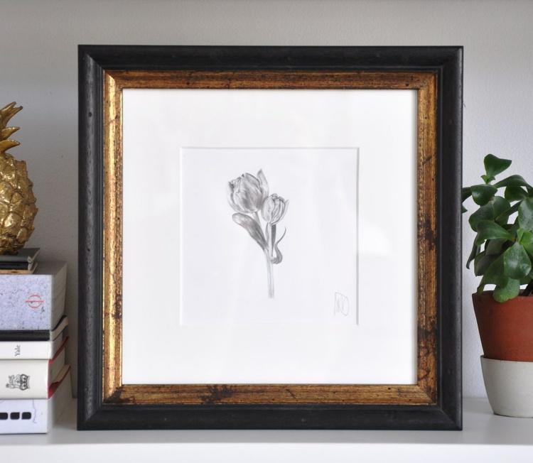 Original drawing of a tulip - Image 0