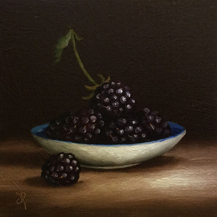 Blackberries on a plate - Image 0