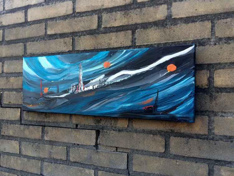 Dream Planet - Painting - 8x24'- 20x60cm