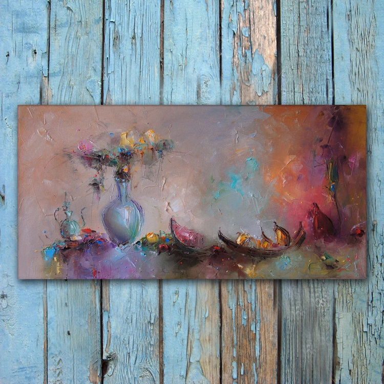 Colorful composition - 7, Still Life Painting, Free Shipping - Image 0