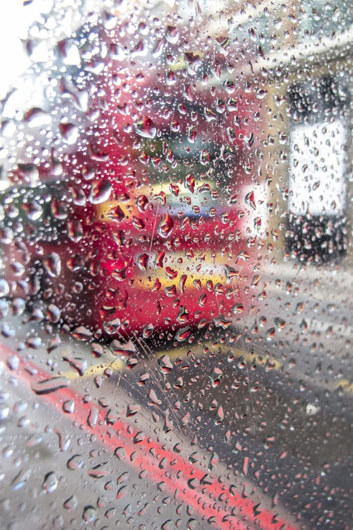 """BUS STOP RAINDROPS NO:2 ( LIMITED EDITION 3/20) 30""""""""x20"""" - Image 0"""