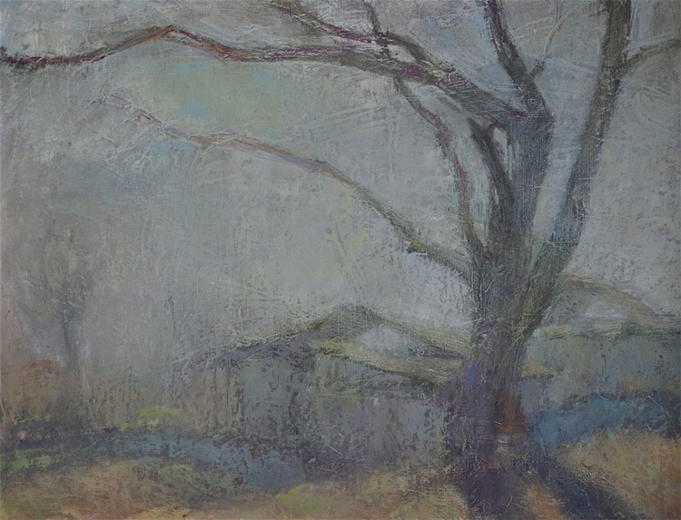 Landscape Oil painting, Tonalism, One of a kind, Signed, Hand Painted - Image 0