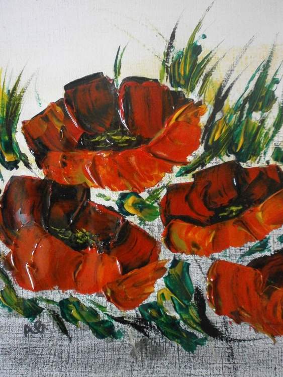 Impasto poppies 3 - Image 0