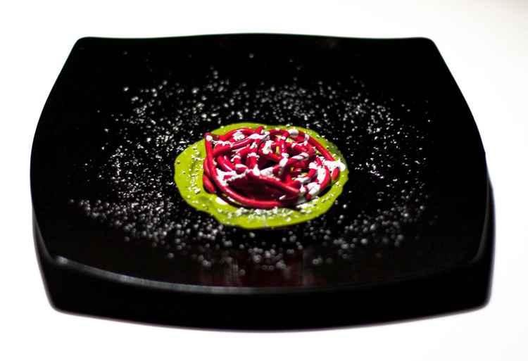 Ephemeral food - Contrapposizione tricolore per spaghetto audace