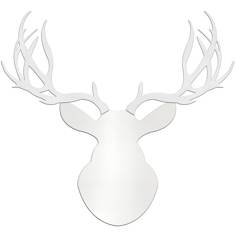 Snow Buck | Large Pure White Deer Cut-Out - Image 0