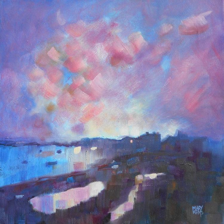 Welsh Coastline. Smokey Purple and Mauve. - Image 0