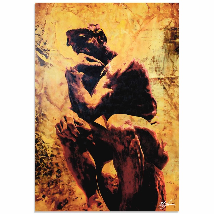 Mark Lewis 'Rodin Clarified Thought' Limited Edition Pop Art Print on Metal - Image 0
