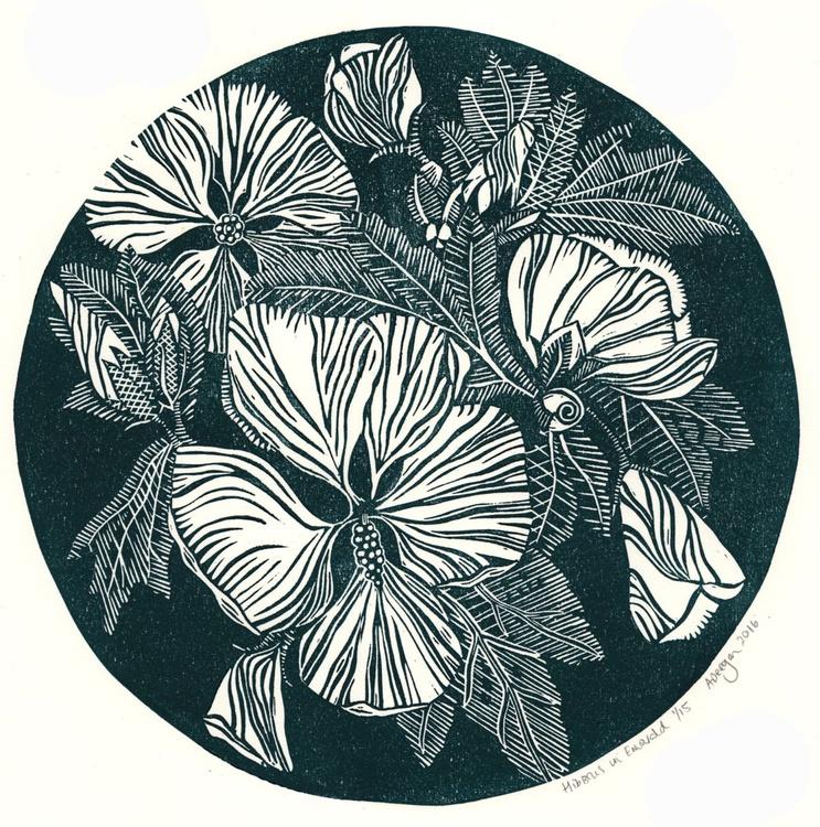 Hibiscus in Emerald Green - Image 0