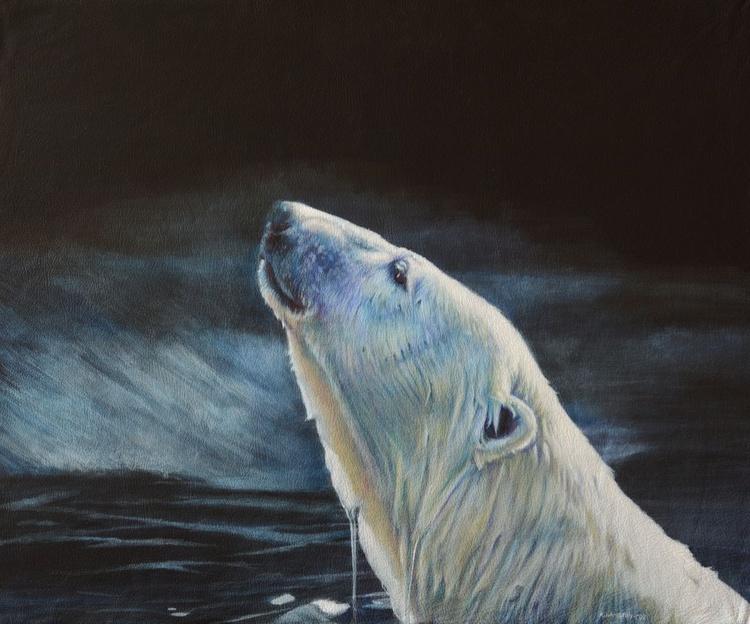 Polar Bear Moonlight Swim - Image 0