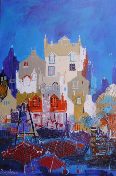 Home From Home - 90cm x 60cm, ready to hang - Image 0