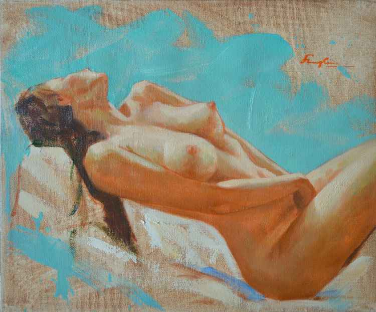 original oil painting art impression female nude girl naked body women on canvas #16-1-25-10 -