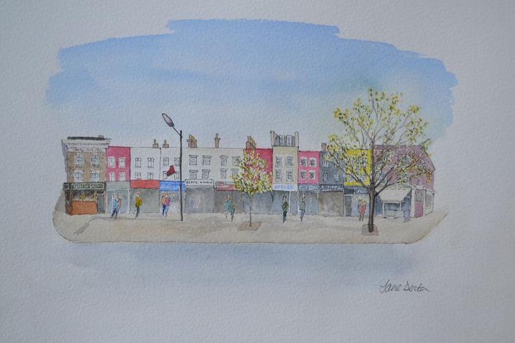 Camden, High Street, London - Original Pen & Wash - Image 0