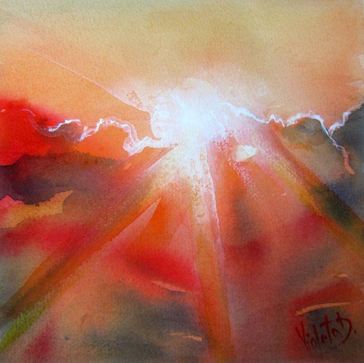 Homage to J.M.W. Turner: Sunset 1 - Image 0