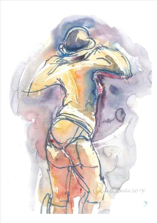 Burlesque woman standing