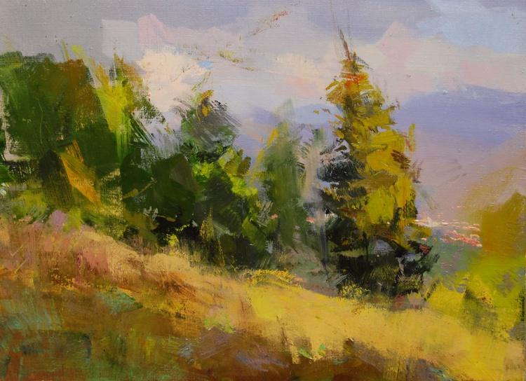 """Landscape Oil Painting """" Forest Brides """" ( 434l15 ) - Image 0"""