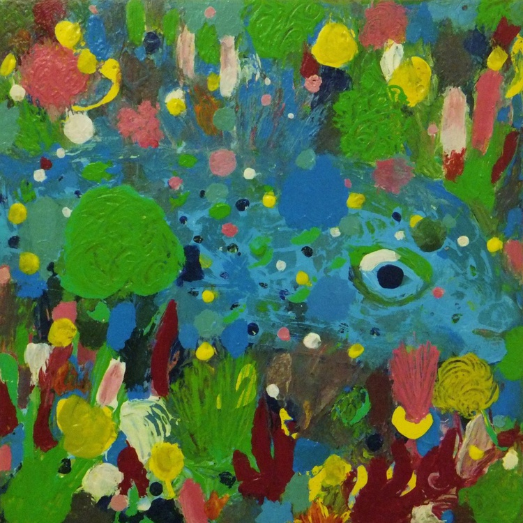 Little blue fish in the coral reef - Image 0