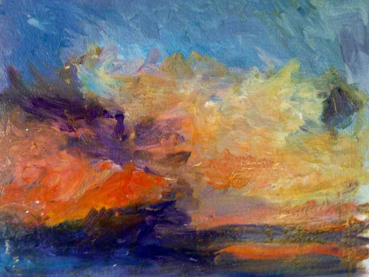 """Study #2 for the series """"Enchanted Summer Sky"""""""