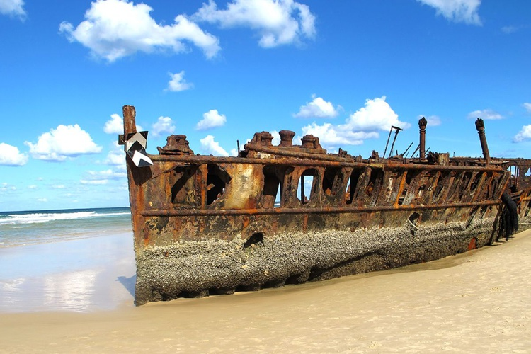 "SHIPWRECK: fraser island (Limited edition  1/200) 12"" X8"" - Image 0"