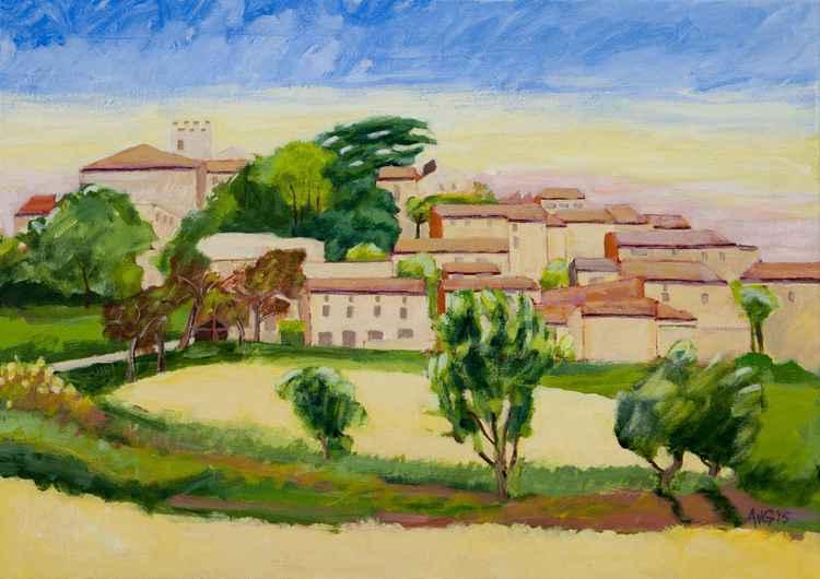 """Maison Jaune"" Murs Provence France -"