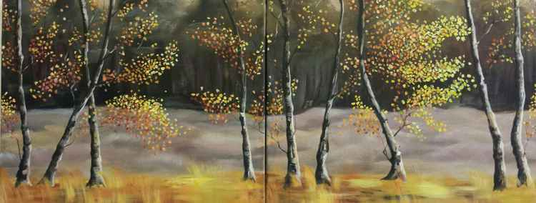 Birch Trees on the Heather - Two Piece -