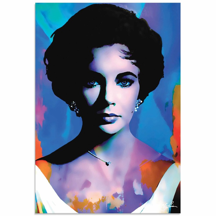 Mark Lewis 'Elizabeth Taylor The Color of Passion' Limited Edition Pop Art Print on Metal - Image 0