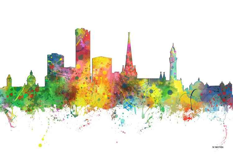 Birmingham, England Skyline MCLR1 -