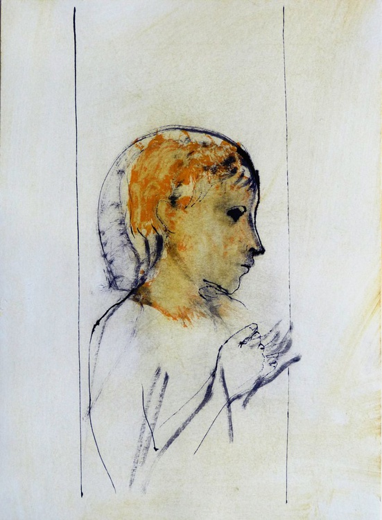 Introspectus #3 , Acrylic on paper 29x41 cm - Image 0