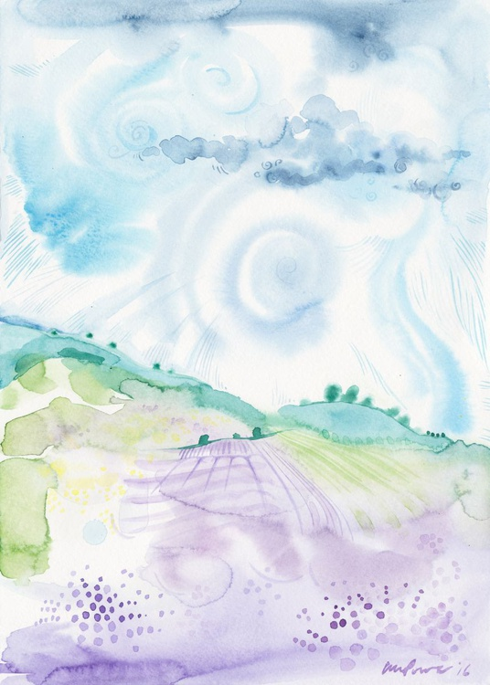Storm brewing over Lavender fields - Image 0