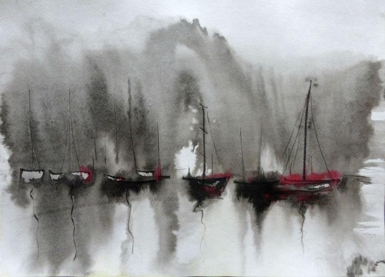 Boats, 42x30 cm - Image 0