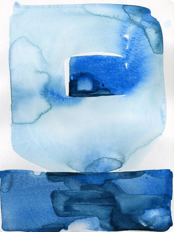 Finding Tranquility 5 - Abstract Zen Watercolor Painting - Image 0