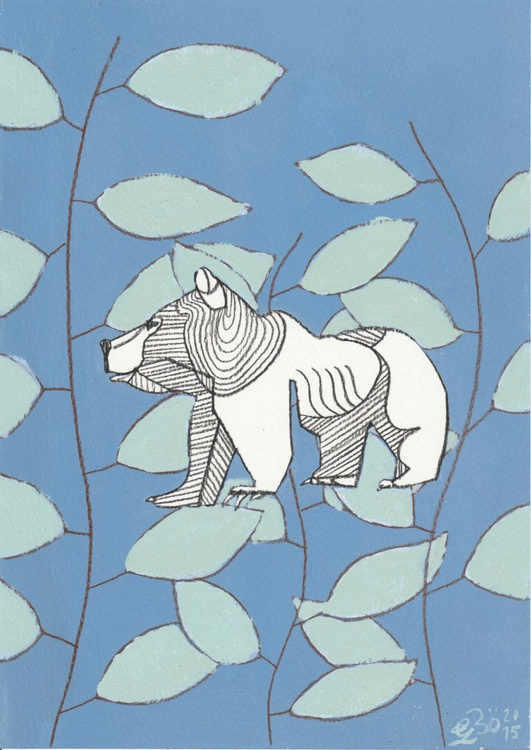 Bear and Leaves - Image 0