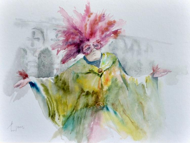CARNEVALE 3 original watercolor - Image 0