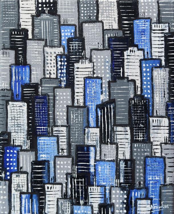 City Block Blue and Grey - Image 0