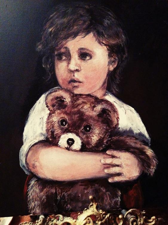 Little Boy with Teddy Bear - Image 0