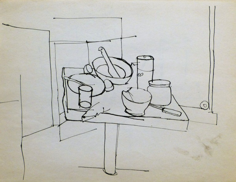 Still Life: Kitchen #5, 31x24 cm - Image 0