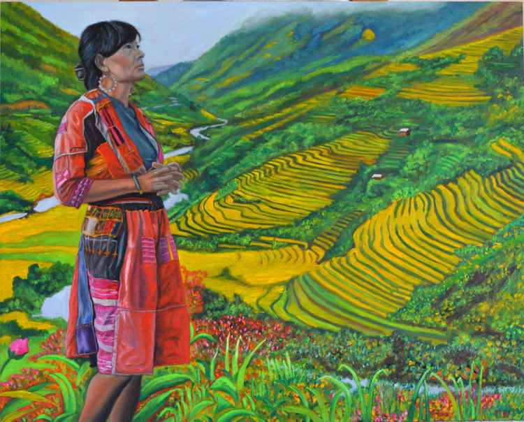 What If - Hmong woman - praying - rice terraces - sapa - vietnam