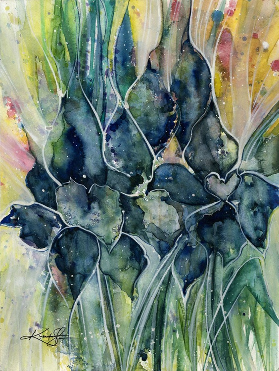 Royal Enchantment - Flower Watercolor Painting - Image 0