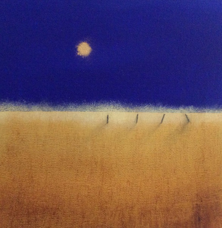 """"""" field and golden moon """" (miniature size) - Image 0"""