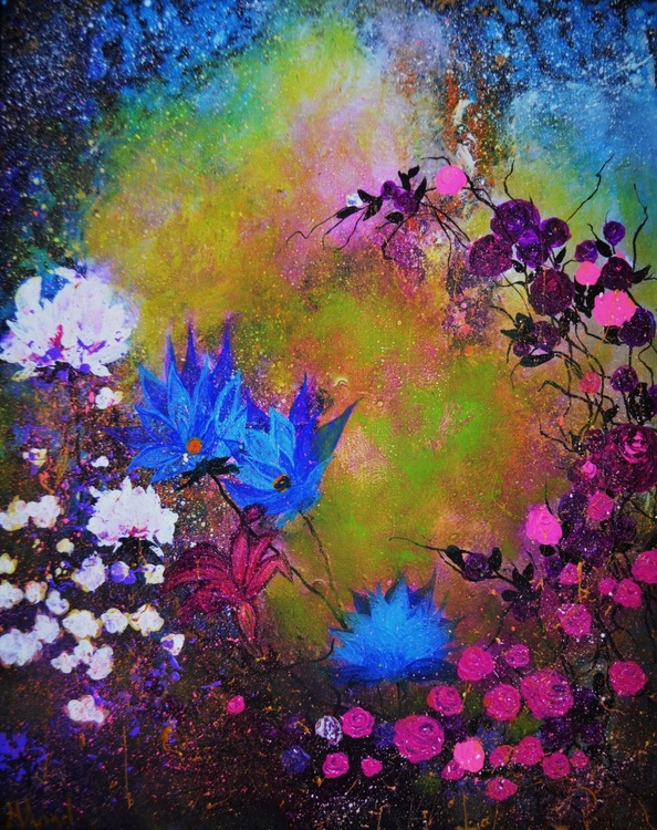 "Abstract floral purple ""Summer dream"" - Image 0"