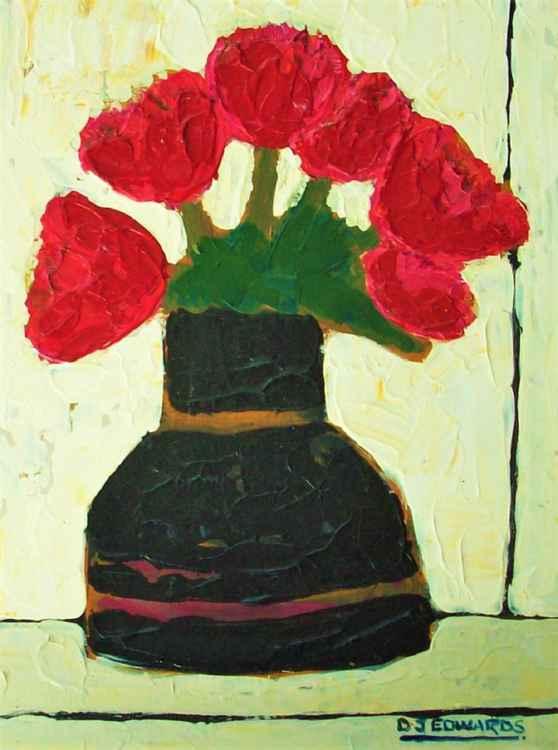 Old Black Vase -
