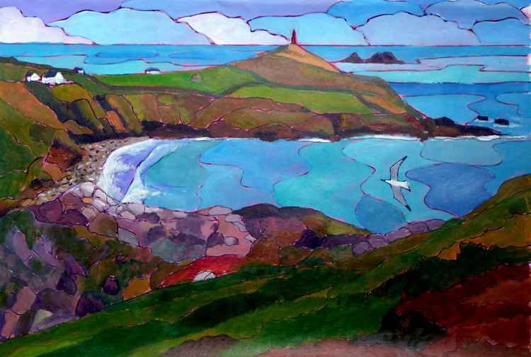 Cape Cornwall from Kenidjack Castle -