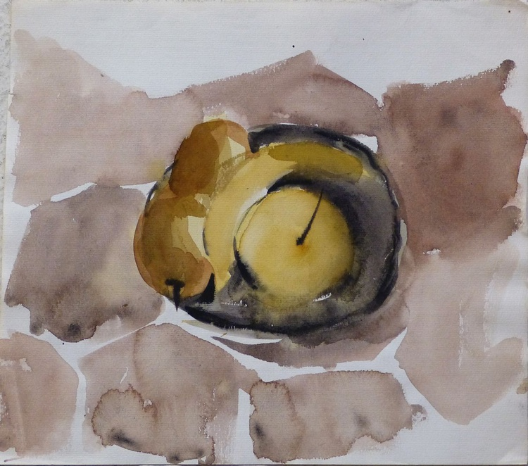 Still Life with Pears and Bananas, 33x29 cm - Image 0