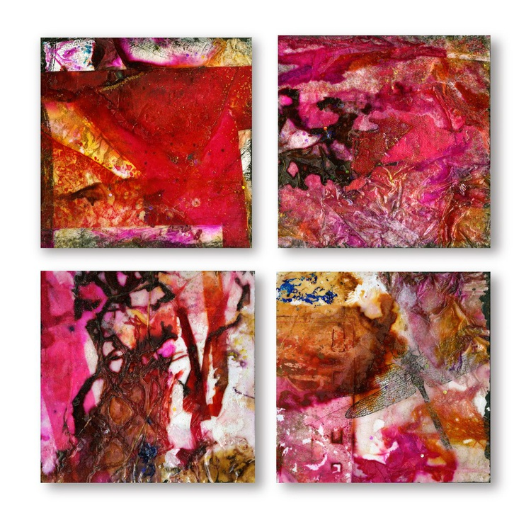 Jewel Abstracts - Set of 4 - Image 0