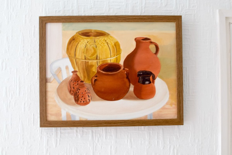 Out at Exhibition - Pots on the patio - Image 0