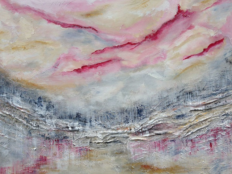 Lost World- A Muted Abstract Acrylic Painting. - Image 0