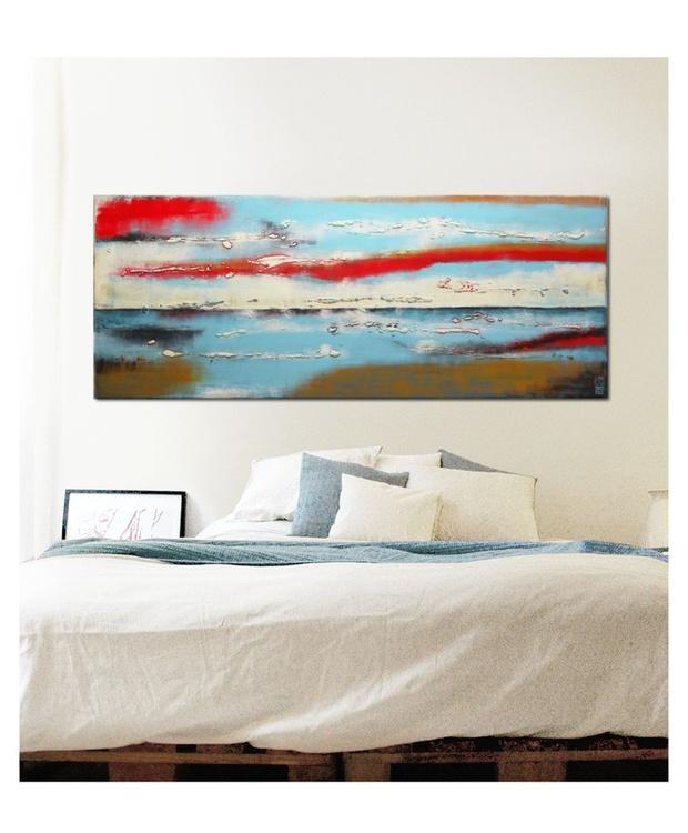 Turquoise & Red Landscape - C12 - Image 0